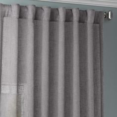 Exclusive Fabrics & Furnishings Gravel Grey Solid Rod Pocket Sheer Curtain - 50 in. W x 108 in. L-SHCH-SS071617-108 - The Home Depot Cool Curtains, Sheer Curtains, Rod Pocket, Home Depot, Diffuser, Fabric, Design, Decor, Tejido