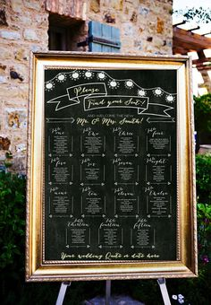 Chalkboard Wedding Table Assignments Board, Wedding Seating Chart Poster, Wedding Place Cards, Table Settings, Table Listings#affiliate