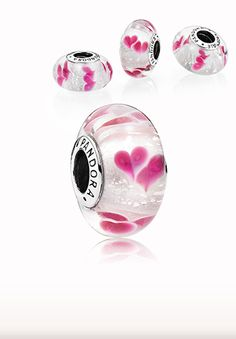 Sparkling pink Wild Hearts Muranos. Celebration #PANDORAcharm