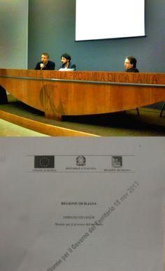 """Ecco il link per la diretta streaming della presentazione del ddl """"NORME PER IL GOVERNO DEL TERRITORIO"""" --> http://www.ustream.tv/channel/catania5stelle"""