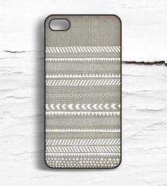 Linen & Geometric Stripes iPhone Case | Disaster prevention rarely looks so fly. This iPhone 4/4S OR 5... | Mobile Phone Cases
