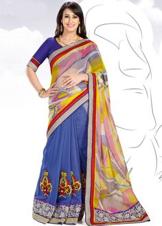 Superb and Splendid #Preeti #Jhangiani Brasso and Faux #Georgette #Saree.