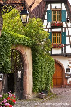 Fairytale views in Kaysersberg, Alsace France. © Brian Jannsen Photography