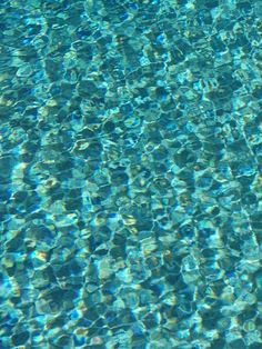 crystal clear cool blue water...so inviting to dive into