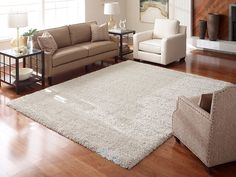 """The Thomasville Marketplace Luxury Shag uses a unique """"cabled"""" yarn system featuring both thick and thin yarn twists to give the rugs a unique surface texture. Living Room Carpet, Living Room Sets, Rugs In Living Room, Living Room Decor, Diy Carpet, Rugs On Carpet, Frieze Carpet, Carpet Ideas, Carpets"""