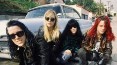 """last-huzzah: """" L7 on Kodak Drive, 1992 In front of the apartments where Suzi and I were neighbours @l7theband Source: https://www.facebook.com/L7theband/ """""""