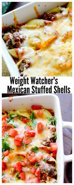 Weight Watcher Recipes - Mexican Stuffed Shells - 9 Points for 3 reduce weight ww recipes Skinny Recipes, Ww Recipes, Pasta Recipes, Mexican Food Recipes, Healthy Recipes, Recipies, Mexican Drinks, Mexican Cooking, Potato Recipes