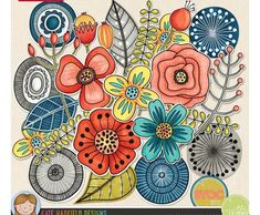 Art Joodles: Mixed Bag by Kate Hadfield Designs Doodle Drawings, Easy Drawings, Drawing Sketches, Drawing Art, Sketchbook Drawings, Doodle Art Journals, Art Journal Pages, Plant Drawing, Drawing Flowers