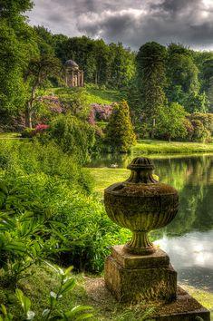 """ Temple of Apollo at Stourhead Gardens by tonybill  """