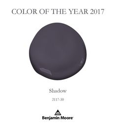 Color of the Year 2017 Shadow from Benjamin Moore Paint. See this beautiful paint color in real rooms and get some inspiration for your next paint project!