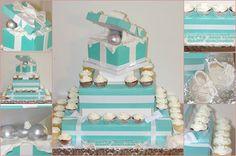 Tiffany inspire baby shower cake