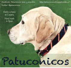 Collar de perro Patuconicos,   hecho a mano con nudos de macramé.