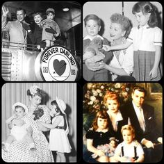 Lucille Ball with her children