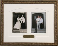Then & now photographs, 50th wedding anniversary framed gift idea!