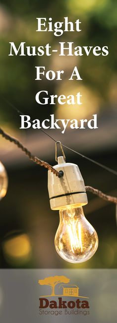 With summer behind and cooler weather approaching, many are starting to think about weatherproofing outdoor buildings, cabins, vehicles, and more. It's also an ideal time to think about backyard plans for next year. Find out why + consider adding these eight must-haves to your yard >> http://www.dakotastorage.com/blog/8-must-haves-for-a-great-backyard