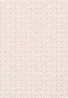 TAZA, Coral, T35168, Collection Graphic Resource from Thibaut wallpaper Java Java esque