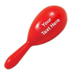 """Custom Printed Maraca-Red: Available Color: Red Imprint Area: 2"""" X 1 1/4"""" Product Size: 7"""" Product Weight: 21 lbs Packaging: 150 pieces #custommaracas #promotionalproduct #teamspirit"""