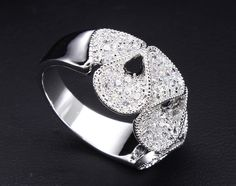 Fancy Combination Spiral Petals Engagement Ring