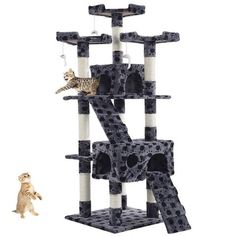 Goplus New Cat Tree Tower Condo Furniture Scratching Post Pet Kitty Play House Wood Climbing Tree for Cat Cat Scratching Tree, Scratching Post, Cat Lover Gifts, Pet Gifts, Pet Lovers, Cat Tree House, Furniture Scratches, Cheap Pets, Cat Activity