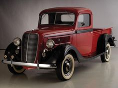 Vintage Cars Classic 1937 Ford Deluxe Pickup truck retro g Vintage Pickup Trucks, Old Ford Trucks, Antique Trucks, Vintage Cars, Antique Cars, Diesel Trucks, Ford Diesel, Vintage Auto, 4x4 Trucks