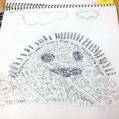 This page, which combines both drawing and writing, was created by a student from my Santa Ana school.