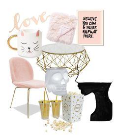 """Pink"" by latipovasvetlana on Polyvore featuring interior, interiors, interior design, дом, home decor, interior decorating, Primitives By Kathy, Jaipur и Qeeboo"