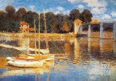 The Bridge at Argenteuil Art Print by Claude Monet at Art.com