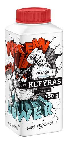 Vilkyškių Super Kefir on Packaging of the World - Creative Package Design Gallery
