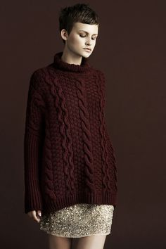 cable stitched sweater