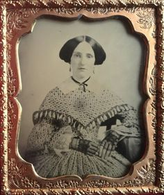 1-6-PLATE-AMBROTYPE-SUPERB-BEAUTY-WOMAN-W-AMAZING-HAIRSTYLE-DRESS-RARE
