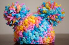 Chunky+Rainbow+Hat+with+two+pompoms+by+AandNAccessories+on+Etsy,+$20.00
