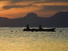 Enjoying a sunset Kayak in the Gulf of Thailand