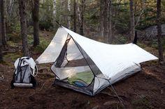 "Hyperlite Mountain Gear ECHO I Ultralight Shelter System ""White"" Bushcraft Camping, Ultralight Backpacking Gear, Ultralight Tent, Camping And Hiking, Camping Survival, Camping Life, Outdoor Survival, Hiking Gear, Camping Gear"