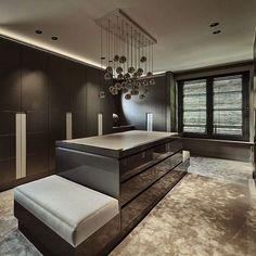 Golden Lighting Design Ideas for Modern Luxury Homes Walk In Closet Design, Bedroom Closet Design, Modern Bedroom Design, Closet Designs, Dressing Room Design, Luxury Closet, Expensive Houses, Luxurious Bedrooms, Luxury Furniture