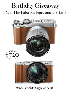 Giveaway! Win the Fuji X-M1 Camera with Lens Kit. To enter go to www.christinagreve.com