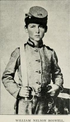 This young Virginian, William Nelson Boswell entered the Confederate service at eleven years of age as a drummer in the 56th Virginia. His soldierly bearing on drill so attracted the attention of President Davis that with his own hands presented the little drummer with a sword. His father was Thomas T. Boswell, of the 56th Virginia. Boswell, out of his own pocket in 1861 uniformed Company A, 56th Virginia Regiment, of Pickett's Division,