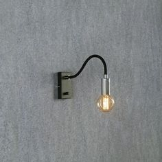 Raw Wall Light from Lighting Direct. Delivered direct to your door - Buy online today Luminous Intensity, Industrial Wall Lights, Fluorescent Lamp, Halogen Lamp, Direct Lighting, Emergency Lighting, Plate Design, Light Fittings, Chrome Finish