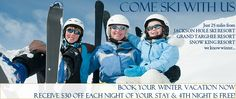 Come stay and ski both Grand Targhee and Jackson Hole Mountain resort - we are 25 miles miles from each - right in between