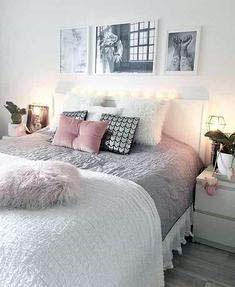 Girl Room Decor Ideas - How do I make my room cute? Girl Room Decor Ideas - What girls put in their bedroom? Girls Bedroom, Woman Bedroom, Girl Bedroom Designs, Trendy Bedroom, Cozy Bedroom, Modern Bedroom, Bedroom Decor, Bedroom Small, Bedroom Lighting