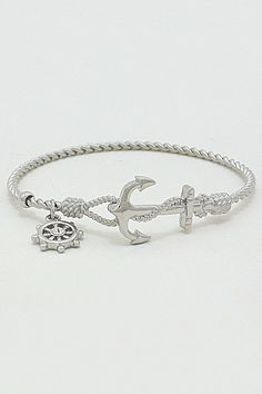 Nautical Cable Bracelet in Silver on Emma Stine Limited