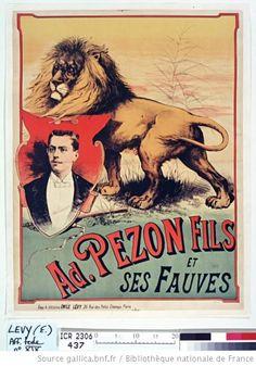 Ad. Pezon Fils et ses fauves 1890