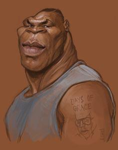 [ Mike Tyson ] - artist: Alberto Russo - website: http://stingarea.blogspot.com/