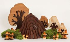Gnome Home and other wooden creations by The Original Tree Swing. Gorgeous!