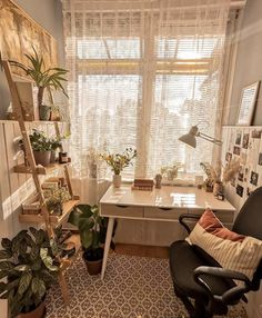 """INTERIOR PORN on Twitter: """"This room is ultimately dreamy 🌱… """" Study Room Decor, Room Ideas Bedroom, Bedroom Inspo, Aesthetic Room Decor, Diy Décoration, Cozy Room, Dream Rooms, My New Room, House Rooms"""