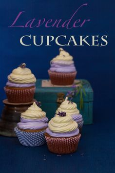 Lavender Cupcakes with Lemon Marshmallow Topping