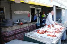 Woodman's is as much a lobster house as a clam shack.  There's a steamer going behind the iced lobsters.