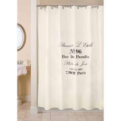 MASTER BEDROOM Park B. Smith Brasserie 72-Inch x 72-Inch Shower Curtain - BedBathandBeyond.com