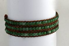 Natural Green Aventurine Wrap by EleganceMade on Etsy, $35.00