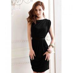 WHOLESALE Glamour Slant Shoulder Ruffle Design Solid Color Slim Fit... ❤ liked on Polyvore