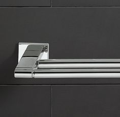 Modern Double Towel Bar - they also have a single if that is preferable - Restoration Hardware - for master bath